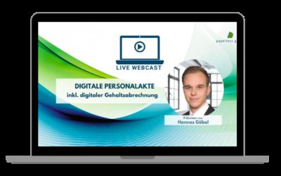 LIVE WEBCAST Digitale Personalakte mit digitaler Gehaltsabrechnung