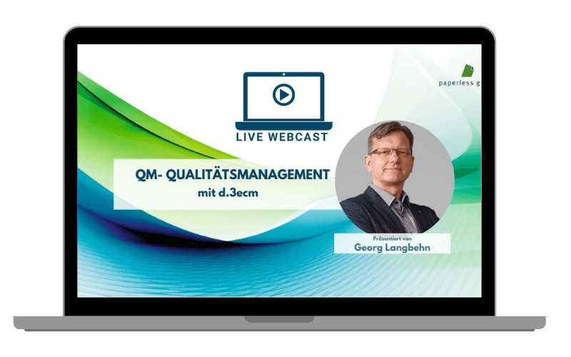 LIVE WEBCAST Qualitätsmanagement –  in d.3ecm