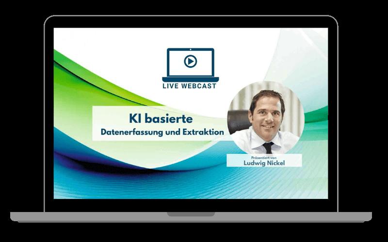 LIVE Webcast KI basierte Datenerfassung und Extraktion