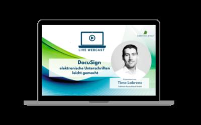 LIVE WEBCAST DocuSign – elektronische Unterschriften leicht gemacht