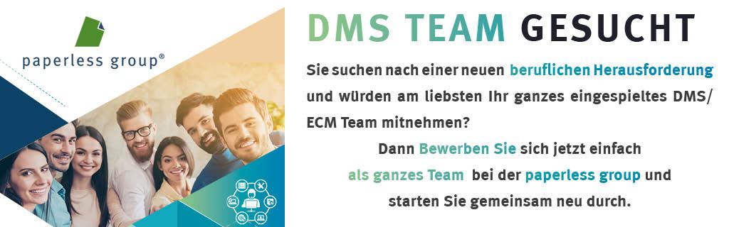 DMS Team gesucht mobil