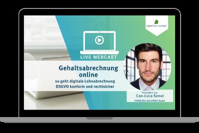 Gehalts- und Lohnabrechnungen digital zustellen DSGVO konform und rechtsicher WebCast