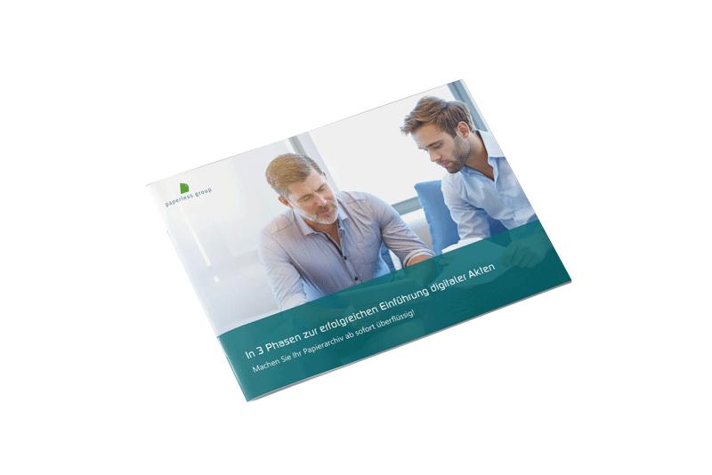 Erfahren Sie in unserem Whitepaper, wie die Einführung der digitalen Akte in Ihre Unternehmen zum Erfolg wird.
