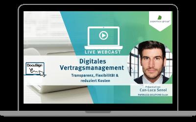 Live WebCast Vertragsmanagement: Transparenz, Flexibilität& reduziert Kosten