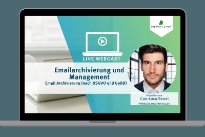 LIve WebCast-Emailarchiverung und Management