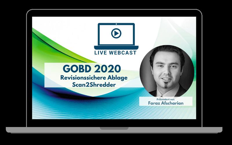 In unserem Webcast stellen wir Ihnen die aktuelle Version des GoBD vor und wie Sie in Ihrem Unternehmen revisionssicher die Ablage bewerkstelligen