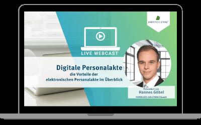 LIVE WEBCAST Digitale Personalakte: die Vorteile der elektronischen Personalakte im Überblick