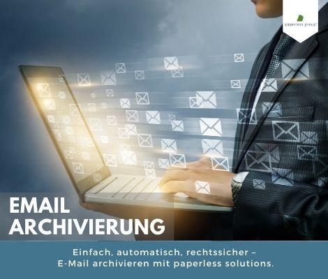 Einfach, automatisch, rechtssicher – E-Mail archivieren mit paperless solutions.