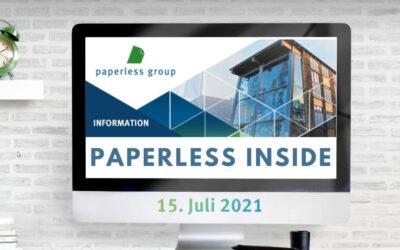 PAPERLESS INSIDE vom 15.07.2021