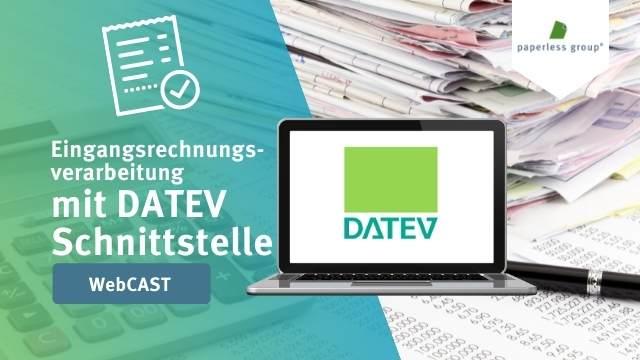 Aufzeichnung Webcast- Eingangsrechnungsverarbeitung mit DATEV Schnittstelle